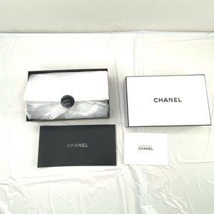 Chanel Gift Box 9x5 with Tissue Paper Stuff Logo